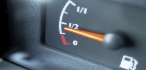 [Photo: fuel indicator]