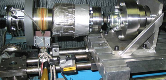 [Photo: CV-Joint Test Bench for Functional Tests]