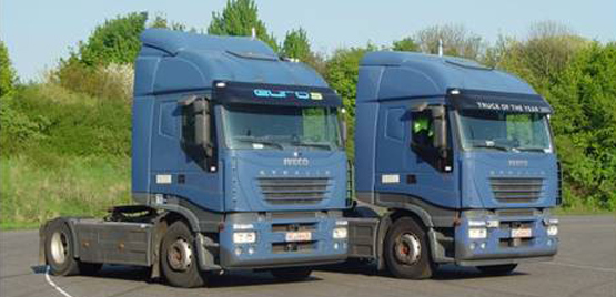 [Photo: Test Vehicles IVECO Stralis 500 and 480]
