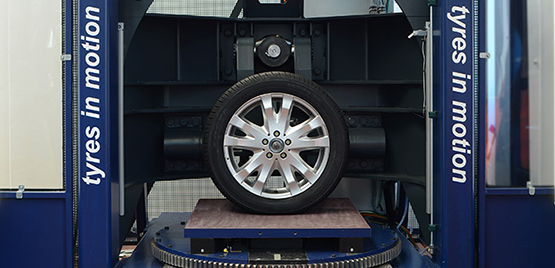 [Photo: Tyre Stiffness Test Rig]